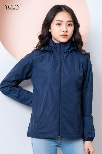 Đồng phục áo khoác – Áo khoác gió có nón màu xanh 112