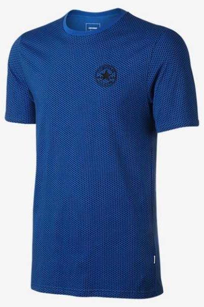 Đồng phục áo thun – Áo thun cổ tròn màu xanh 119