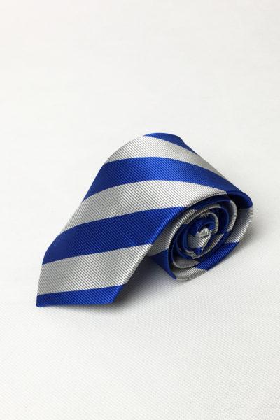 Phụ kiện – Caravat xanh sọc trắng 42
