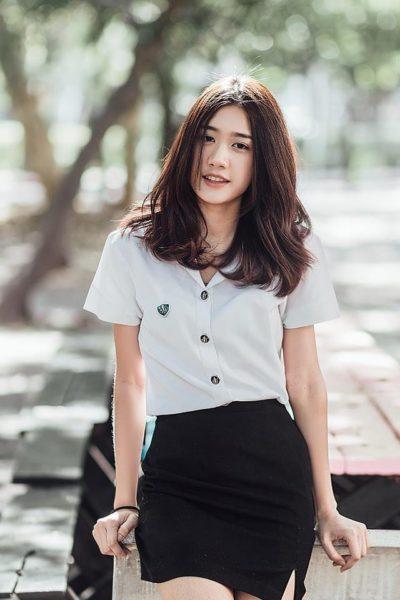 Đồng phục học sinh sinh viên – Đồng phục sinh viên áo sơi mi trắng ngắn tay, váy ngắ đen 35