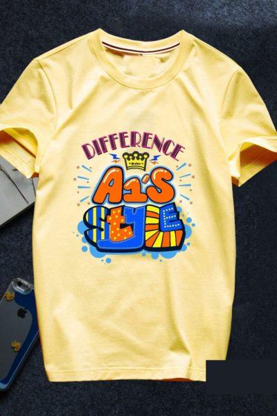 Đồng phục áo thun – Áo thun nhóm lớp cổ tròn màu vàng 91